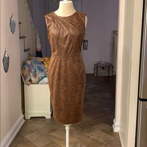 Vince Camuto Faux Leather Dress Size 2 NWT